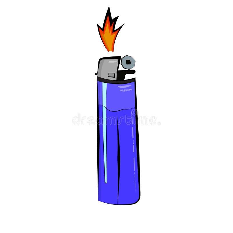 vector illustration blue pocket lighter with fire lighter icon rh dreamstime com