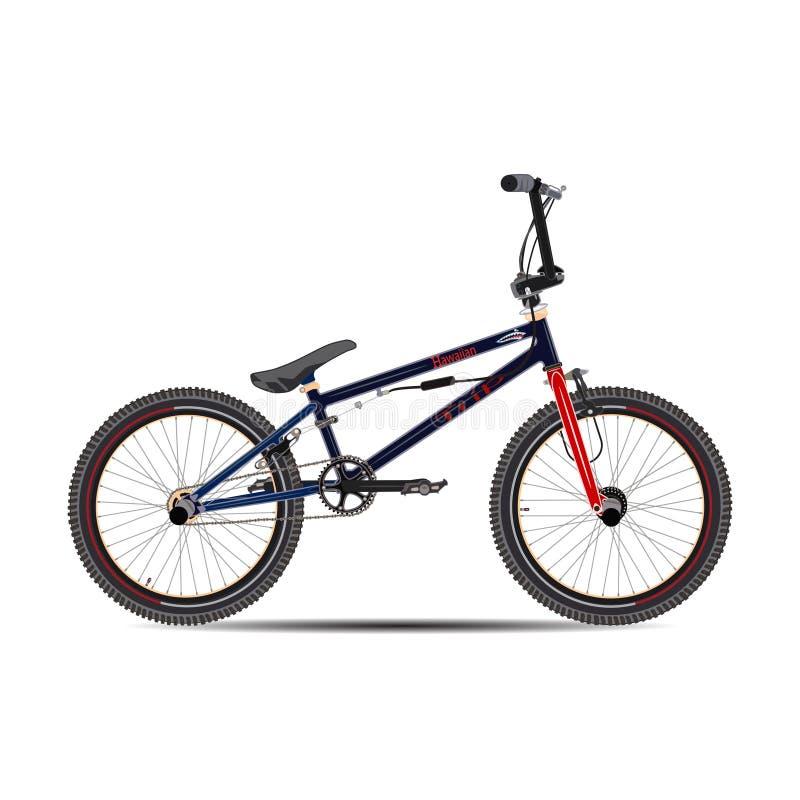 Vector illustration of bmx bike in flat style. royalty free illustration
