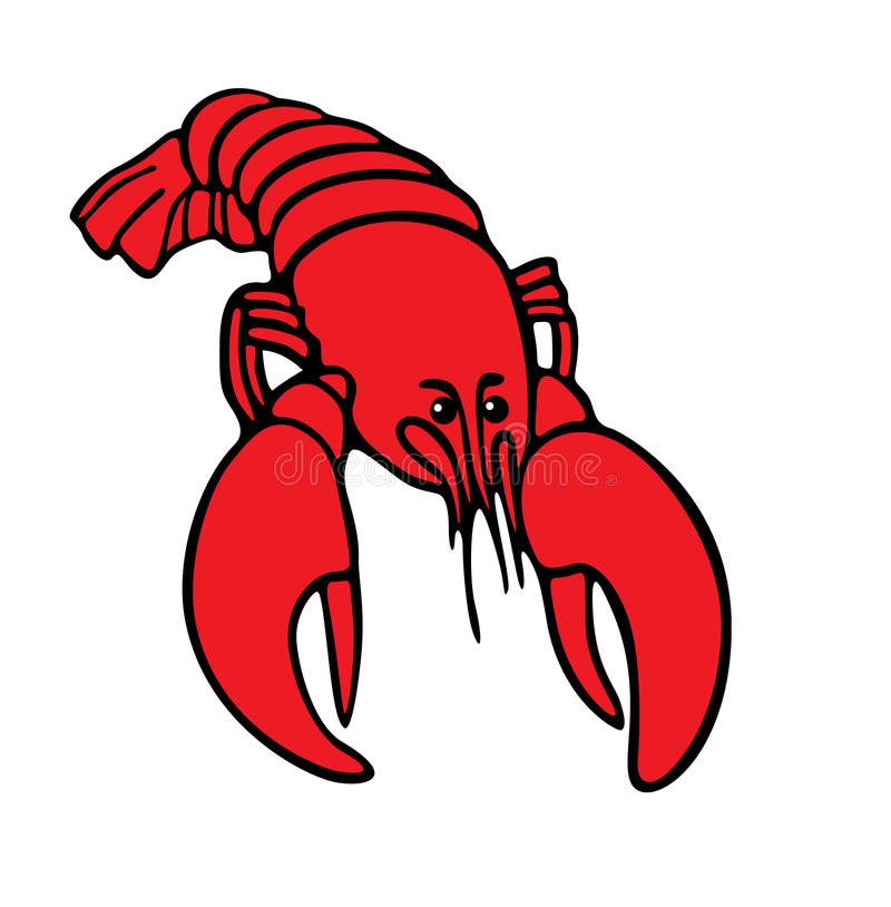 Vector Illustration Of The Boiled Lobster Stock Vector