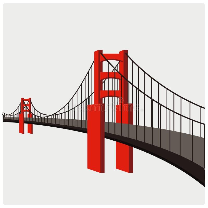 Vector illustration of the bridge royalty free illustration