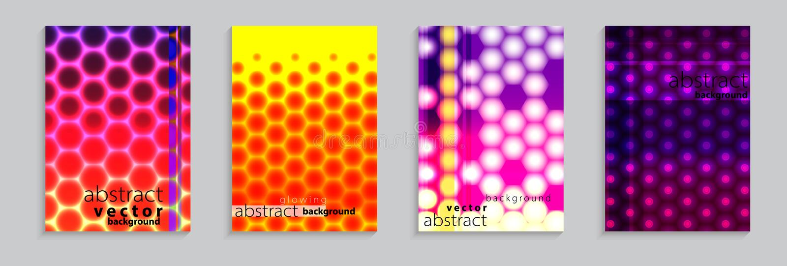 Vector illustration of bright color abstract pattern background with halftone motif for minimal dynamic cover design stock illustration