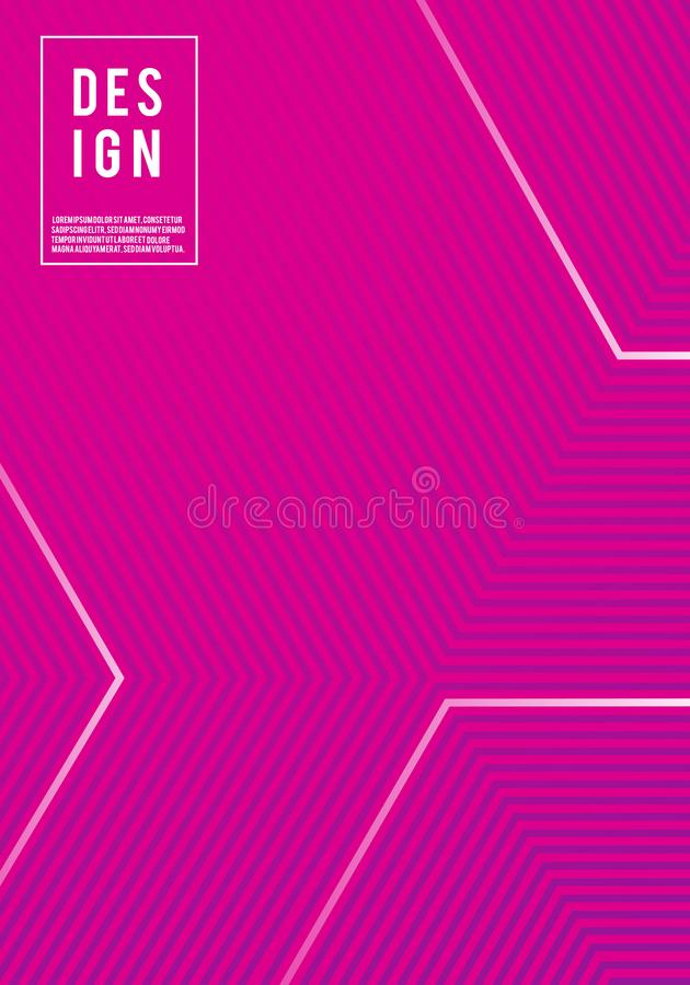 Vector illustration of bright color abstract pattern background poster template with line gradient texture for minimal dynamic cov stock illustration