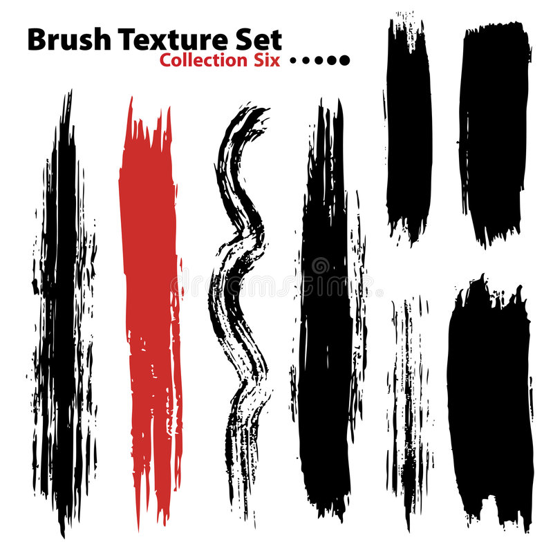 Vector Illustration Brush Set 6 Royalty Free Stock Image