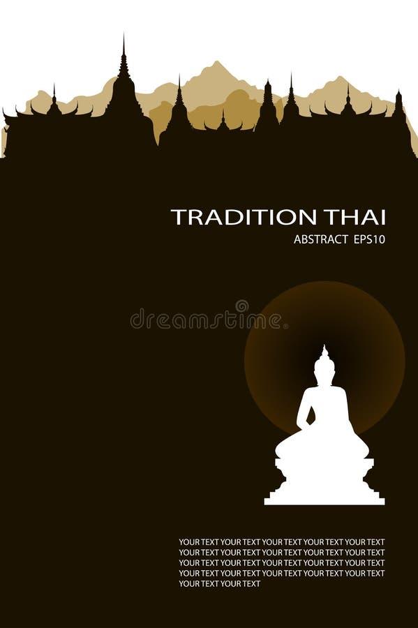 Vector illustration of buddha royal palace vector illustration