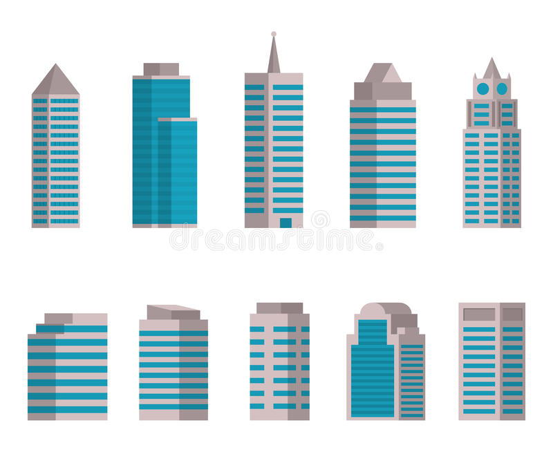 Vector illustration of Building icon. On white background stock illustration