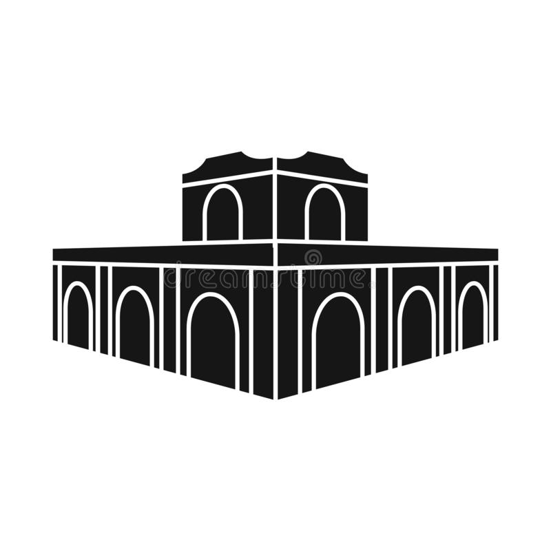 Vector illustration of building and vietnam logo. Collection of building and architecture vector icon for stock. Isolated object of building and vietnam icon stock illustration