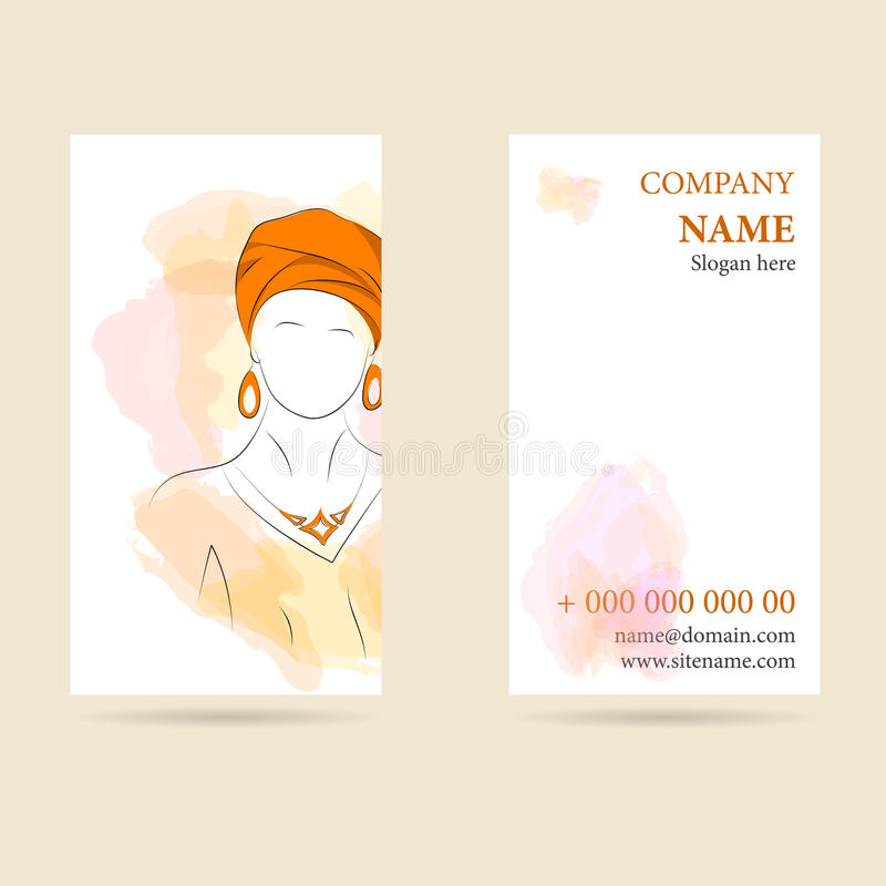 Vector Illustration Of Business Card Vertical Stock Vector ...