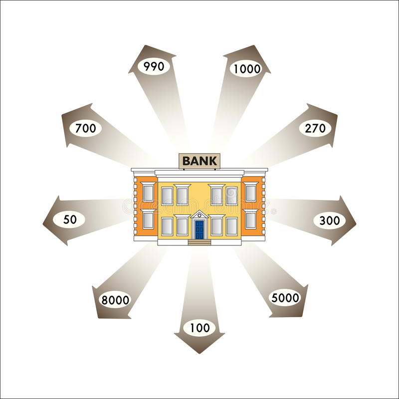 Vector Illustration. Business Graphics. Infographics: Bank Loans As A Cash Flow. Stock Photo ...