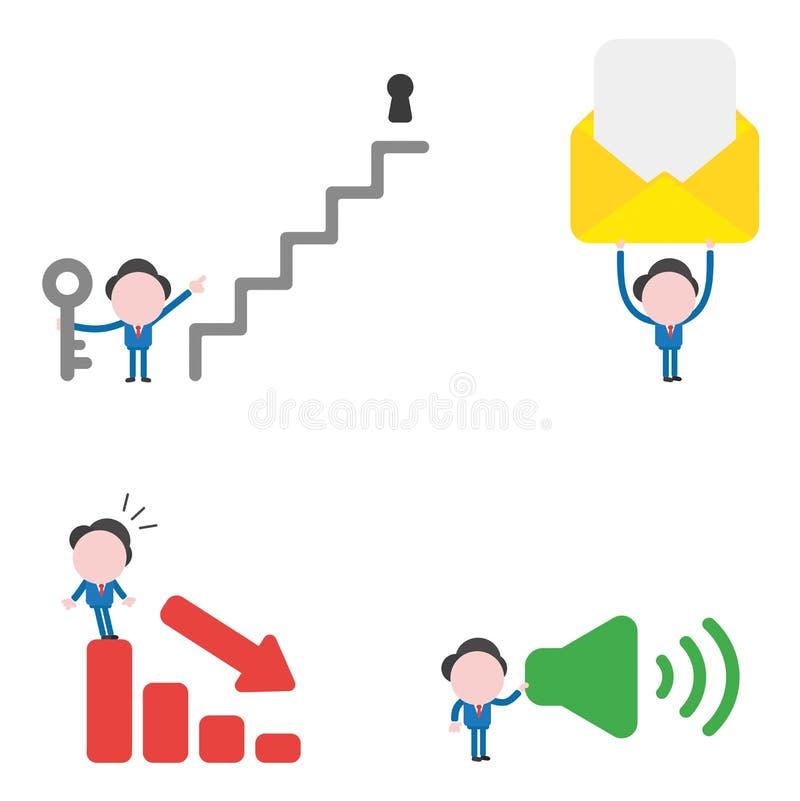 Vector illustration businessman character set vector illustration