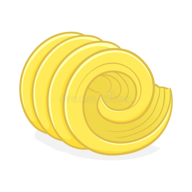 Vector Illustration of a Butter Curl royalty free illustration