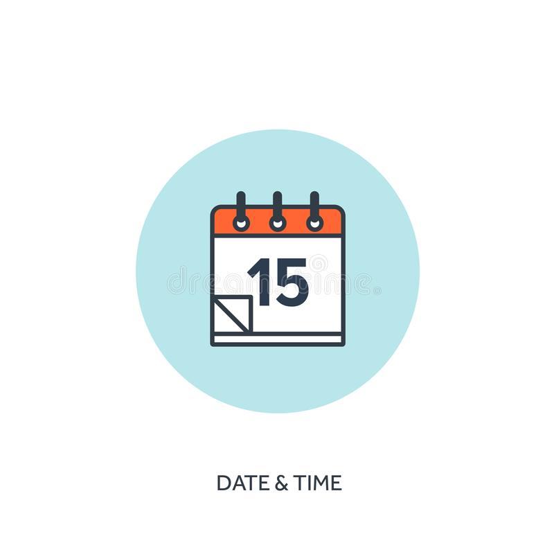 Vector illustration. Calendar lined icon.Date time. Holiday planning. vector illustration