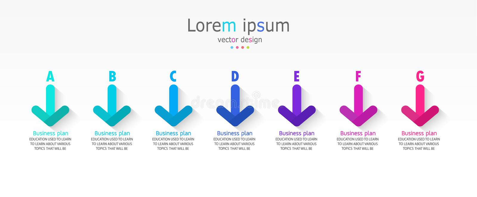 Vector illustration Can be used for process, presentations, layout, banner,info graph there 7 steps or layers. stock illustration