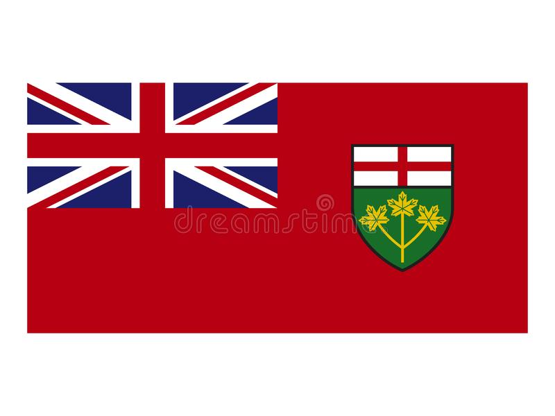 Canada state flag of Ontario. Vector illustration of the Canada state flag of Ontario royalty free illustration