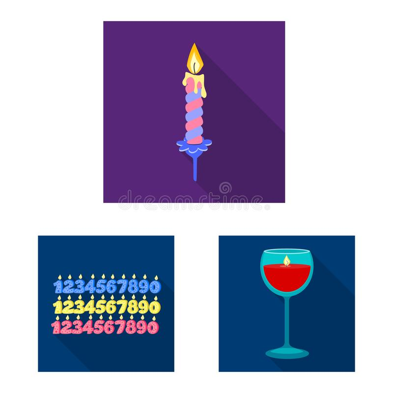 Vector design of candlelight and decoration logo. Collection of candlelight and flame stock vector illustration. Vector illustration of candlelight and vector illustration