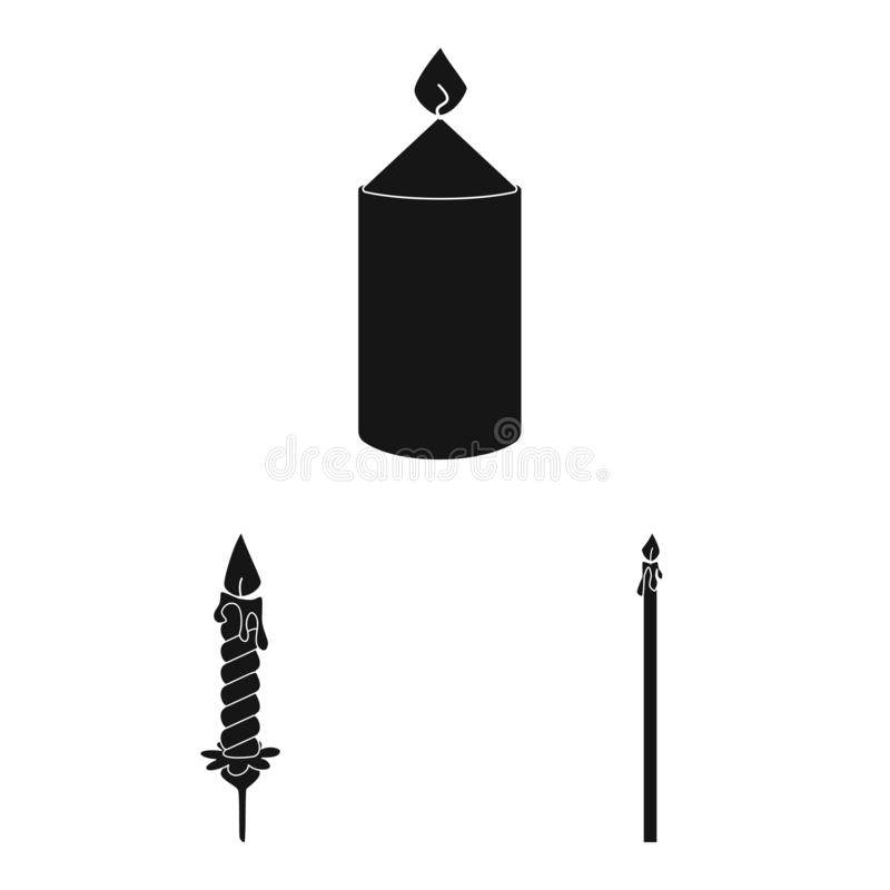 Vector design of candlelight and decoration icon. Set of candlelight and wax vector icon for stock. Vector illustration of candlelight and decoration symbol royalty free illustration