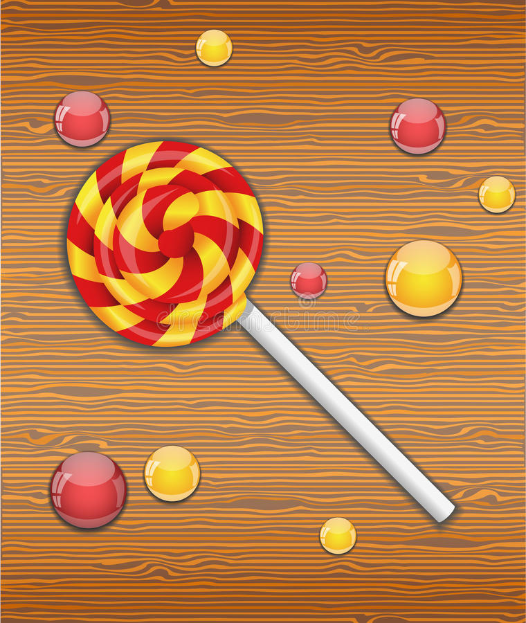 Vector illustration with candy. vector illustration