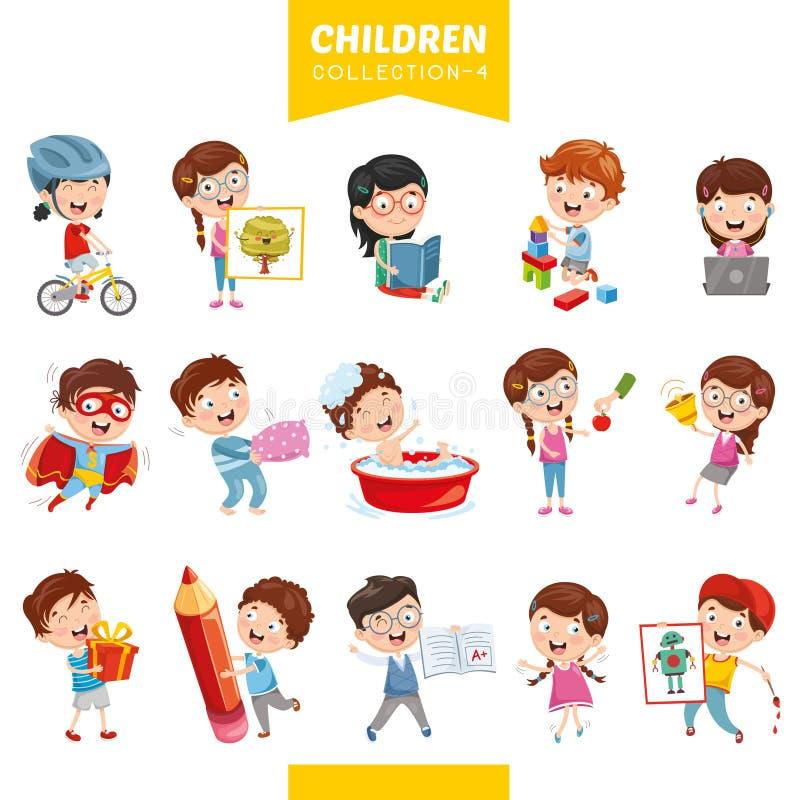 Vector Illustration Of Cartoon Children. Eps 10 vector illustration