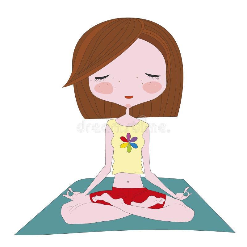 Yoga pose vector illustration royalty free illustration