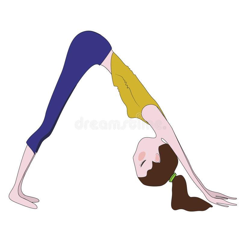Yoga pose vector illustration vector illustration