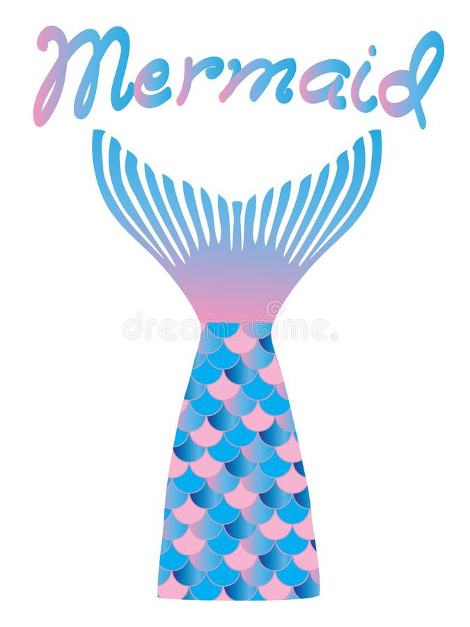 Vector Cartoon Mermaid Funny Tail. royalty free illustration