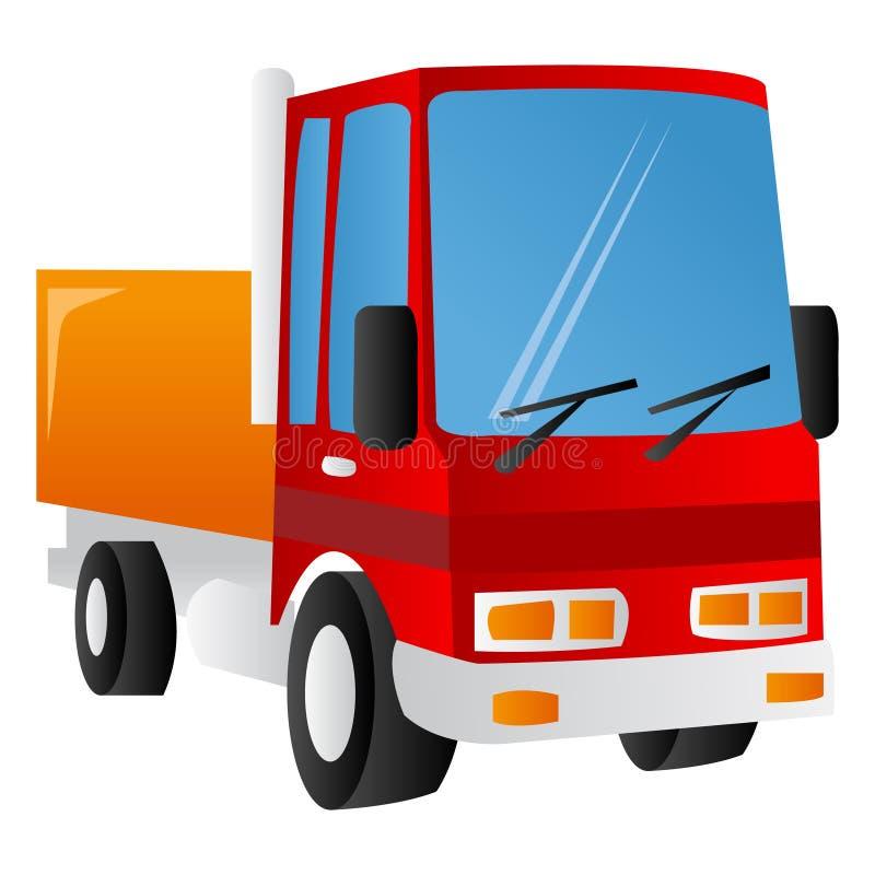 Cartoon Lorry. A vector illustration of cartoon red lorry/truck stock illustration