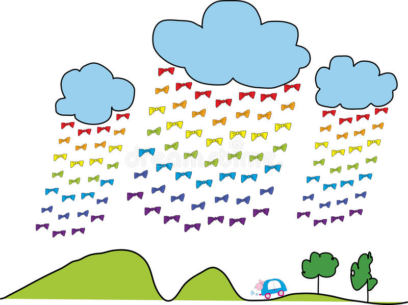 Double Meaning of Rainbow. Vector illustration, cartoon style of double meaning of rainbow royalty free illustration
