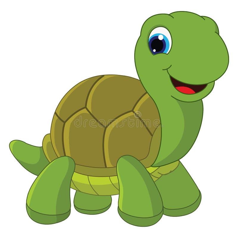 Vector Illustration Of Cartoon Turtle. Eps1 royalty free illustration