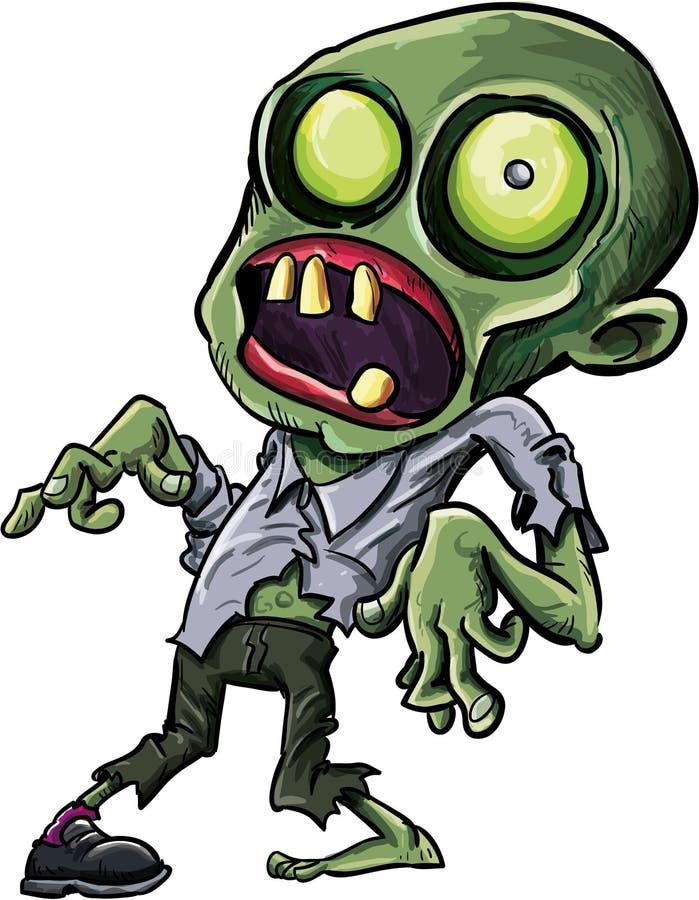 Vector illustration of a cartoon zombie