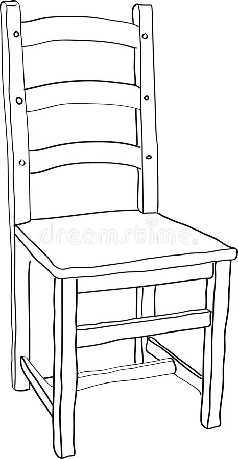Download Chair stock vector. Image of drawing, chair, drawn, white - 29768379