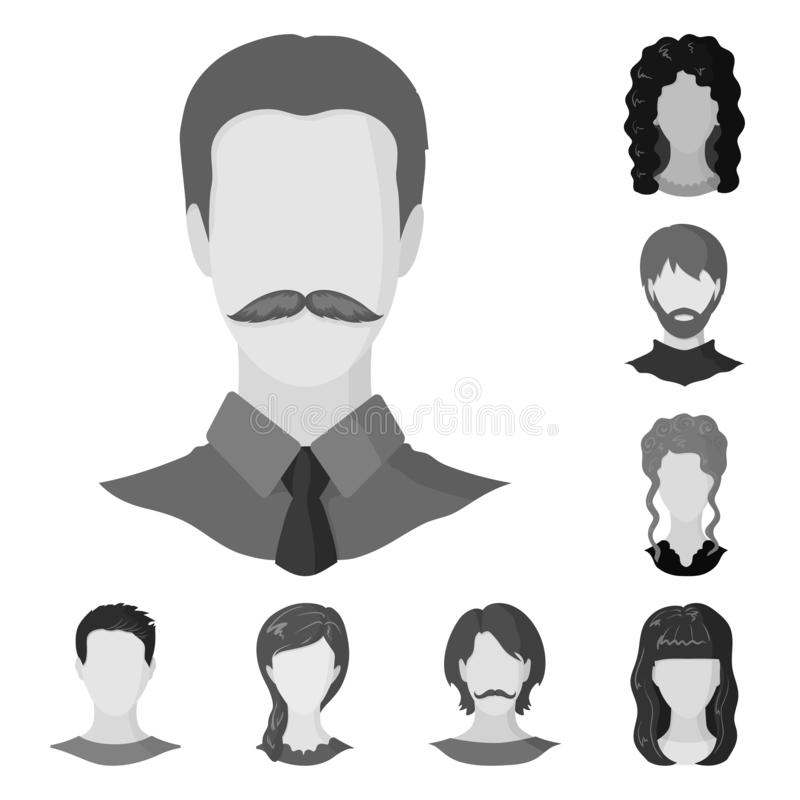 Vector design of character and profile sign. Collection of character and dummy stock symbol for web. Vector illustration of character and profile logo. Set of vector illustration