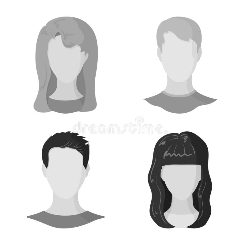 Vector design of character and profile icon. Set of character and dummy stock vector illustration. Vector illustration of character and profile symbol vector illustration