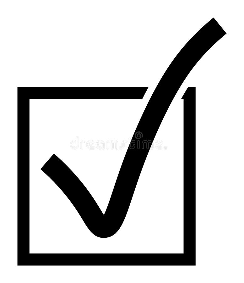 Vector Checkbox Icon. Vector illustration of a checkbox icon in two dimensional perspective vector illustration