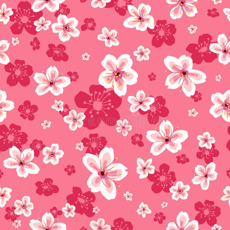 Download Cherry Blossoms Wallpaper Seamless Pattern Background Stock Vector