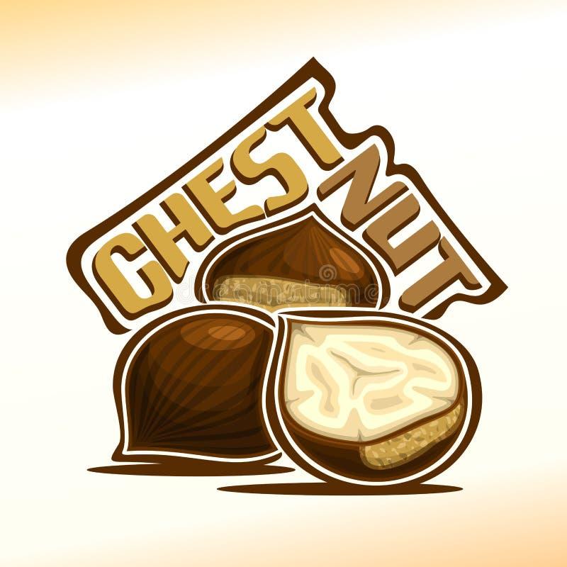 Vector illustration of chestnut stock illustration
