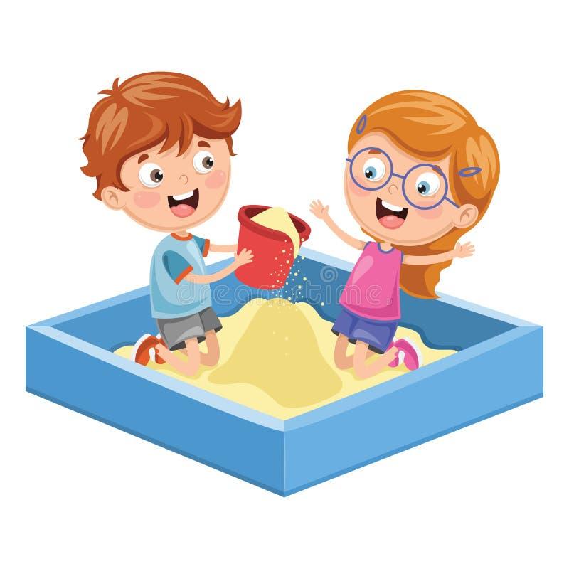Vector Illustration Of Children At Park vector illustration