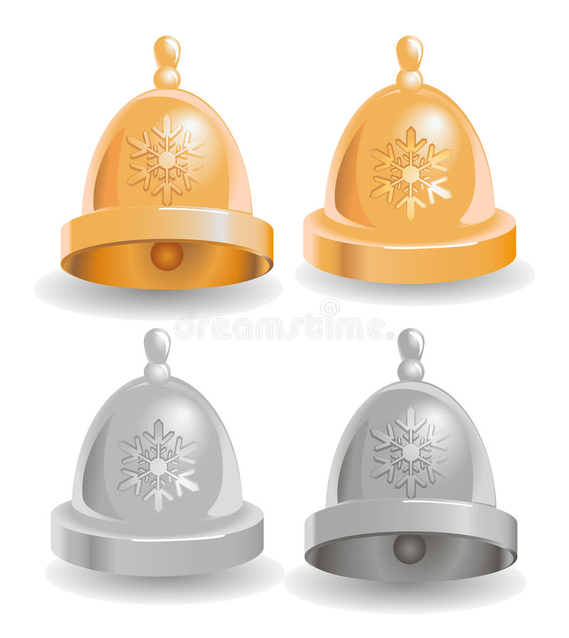 Vector illustration of Christmas bell stock image