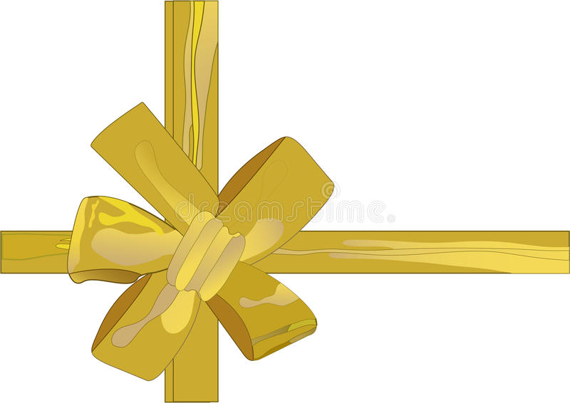 Vector illustration christmas golden ribbon(backg stock photography