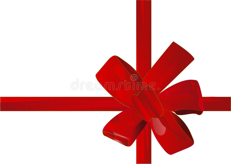 Vector illustration christmas red ribbon(backg stock image