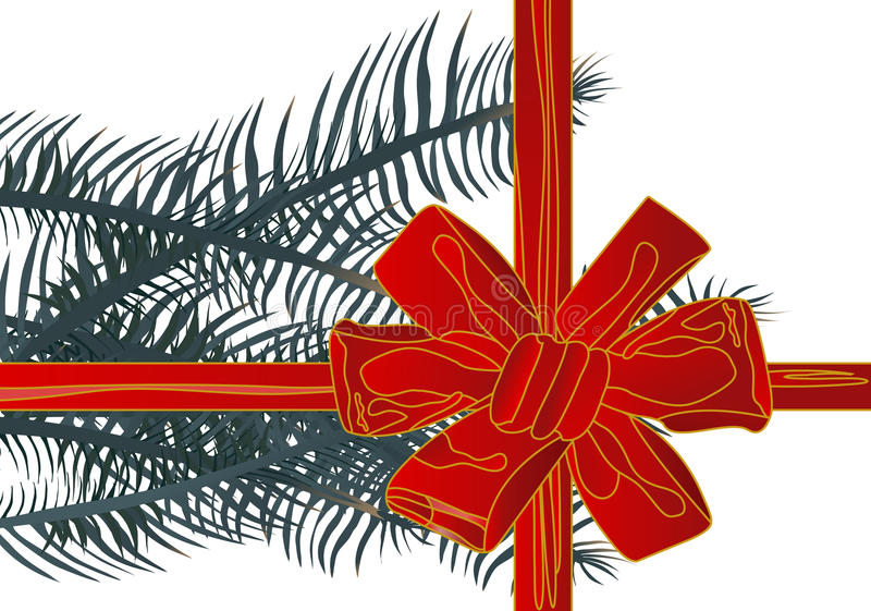 Vector illustration christmas red ribbon(backg stock images