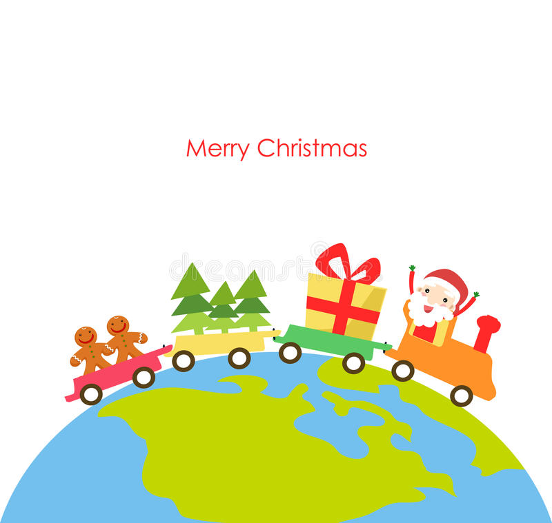 Download Vector Illustration Of A Christmas Train Royalty Free Stock Image - Image: 17049626