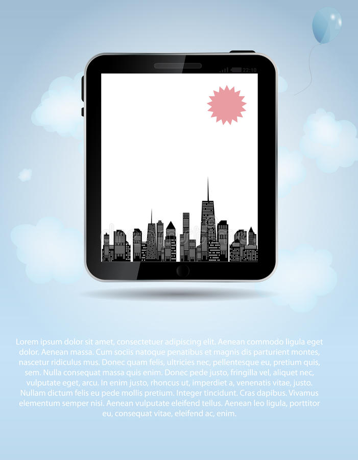Vector Illustration Of Cities Silhouette. EPS 10. Stock Photography