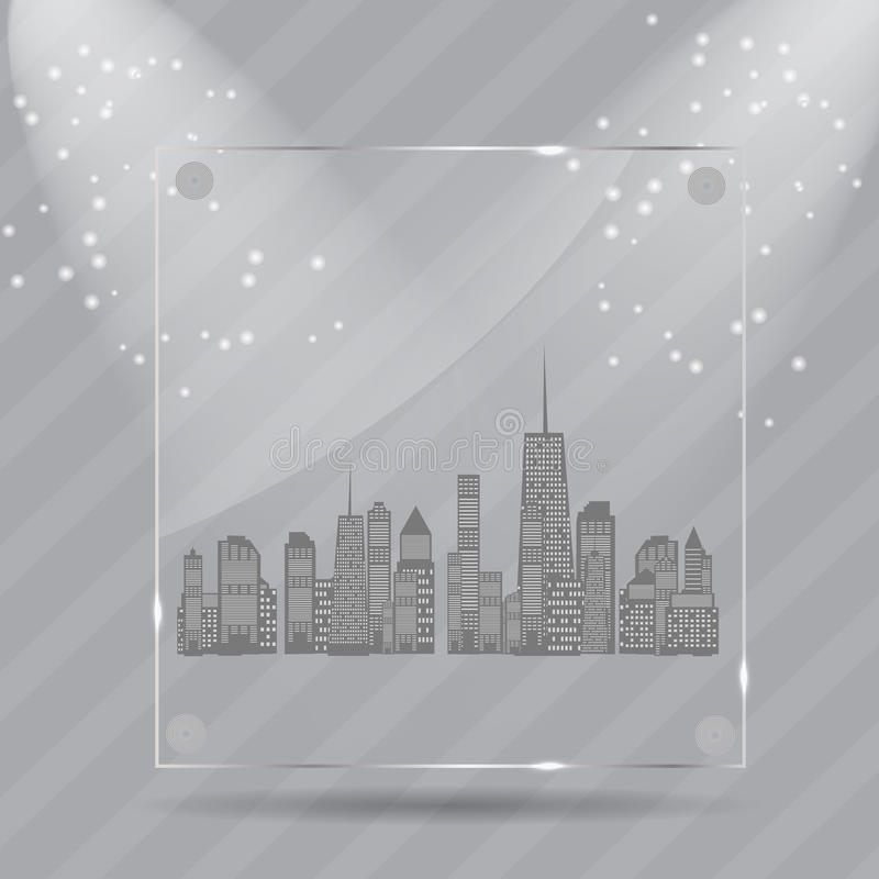 Download Vector Illustration Of Cities Silhouette. EPS 10. Stock Vector - Image: 28681757
