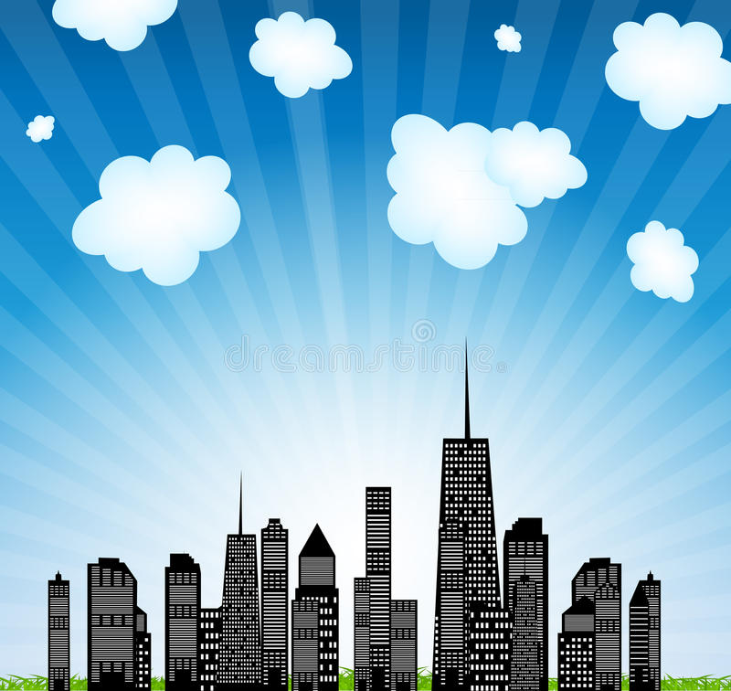 Download Vector Illustration Of Cities Silhouette. EPS 10. Stock Vector - Illustration of digitally, isolated: 28681771