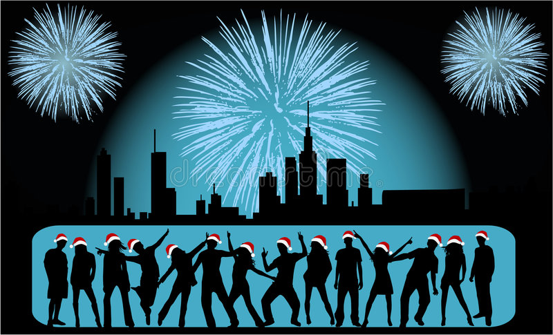 Download Vector Illustration - City Celebration People Royalty Free Stock Images - Image: 7105789