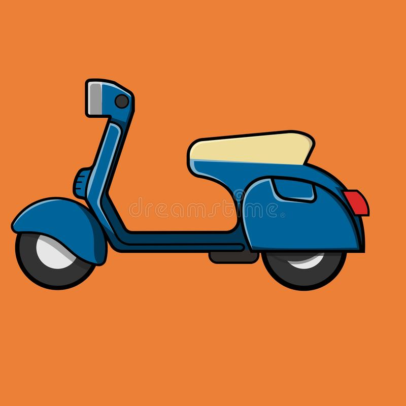 Vector illustration of classic scooter. That can be use to poster or comunity or illustration stock illustration