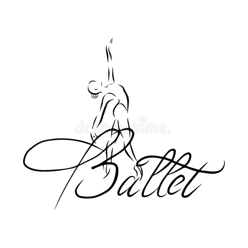 Vector illustration of classical ballet, figure ballet dancer vector illustration