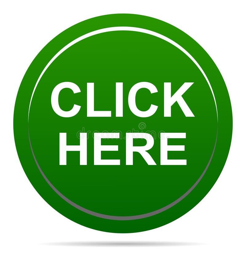 Vector illustration click here green icon round web button vector illustration