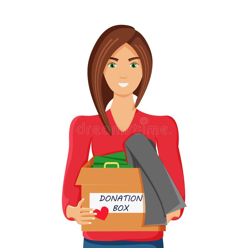 Vector Illustration of Clothes Donation vector illustration