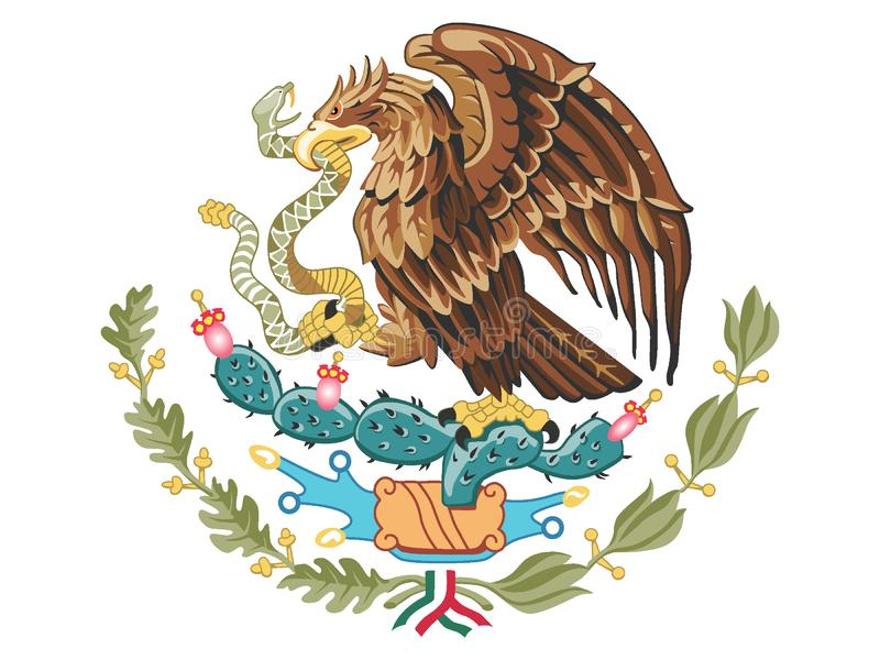 Coat of arms of Mexico stock illustration