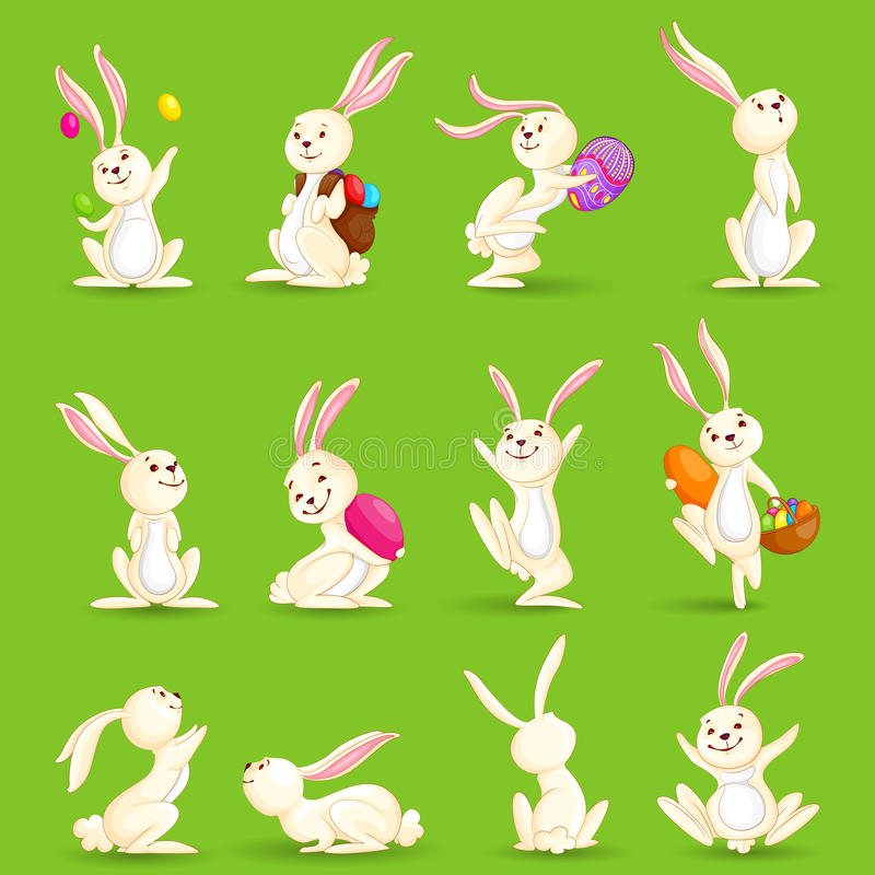 Easter Bunnies royalty free illustration